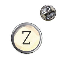 Letter Z Typewriter Key Lapel Hat Tie Pin Tack