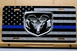 Dodge Ram Blue Line Custom License Plate - Custom Car Tag