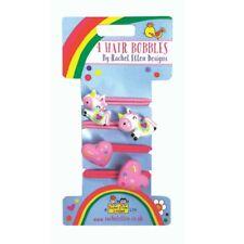 Pack de 4 Unicornio & Corazones Hebilla Cabello Accessorios Tocado niña rosa