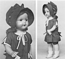 "19""VINTAGE EFFANBEE ROSEMARY DOLL@1925 LOW WAIST DRESS HAT SHOES UNDIES PATTERN"