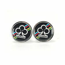Vintage style Colnago clubs black handlebar end plugs - eroica bars