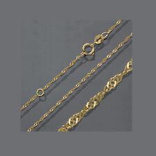 Baby Kinder Singapur Hals Kette Echt Gold 333 Collier Vario Länge 40 38 cm