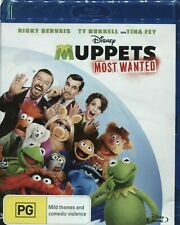 MUPPETS MOST WANTED - BLU-RAY - USED REGION FREE IMPORT** FREE POST**