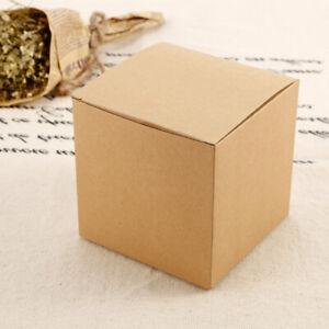 50x 10cm Brown Kraft Paper Box Cupcake Gifts Guest Party Banquet Bar Supplies
