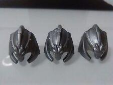 PLAYMOBIL x3 CASCOS PLATEADOS DRAGON MEDIEVAL HELMETS CASQUE CASCO CASCHI helmet