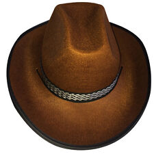 Dress Up America Adulto Cappello da cowboy attraente Marrone
