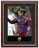 Ronaldinho Mounted Framed & Glazed Memorabilia Gift Football Soccer