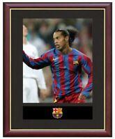 Ronaldinho Mounted Framed & Glazed Memorabilia Gift Football Soccer