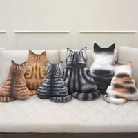 3D Printed Cat Home Sofa Back Cushion Plush Toy Gift Simulation Cat Pillow Gift