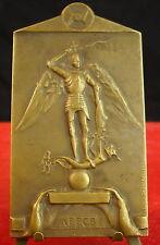 Médaille nuit électrique Bruxelles Saint Michel par J Eug De Bremaecker Medal 铜牌