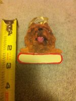 CHOW CHOW--CHRISTMAS DOG ORNAMENT--RESIN--FREE SHIP--NEW