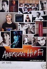 "AMERICAN HI-FI ""ON TOUR"" U.S. PROMO POSTER- Collage of Band Photos"