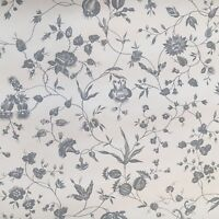 Vintage Wallpaper Floral Vine Woodblock Printing Grey by Motif