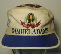 Vintage 1980s SAMUEL ADAMS BOSTON LAGER BEER Advertising Retro PAINTERS HAT CAP