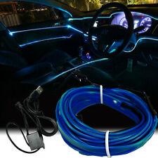 EL Blue 5M USB Interior Cold light Atmosphere Lamp Wire Strip Decoration MBCD
