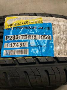 1 New 235 75 15 Toyo Extensa A/S White Wall Tire