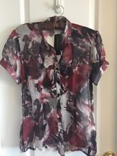 NWT Women's Ispiri Sheer Silk Blouse/Shirt/Top Size M