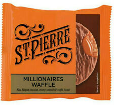 St. Pierre Millionaires Caramel & Chocolate Waffles 45g - Individually Wrapped
