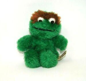 "Vintage Applause Oscar the Grouch Plush Sesame Street 7"" Sitting"