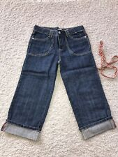 Gymboree Glamour Safari Denim Capri Pants Jeans 10 12 Nwot
