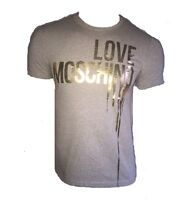 T SHIRT LOVE MOSCHINO GREY AND GOLD
