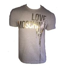 T SHIRT LOVE MOSCHINO GRIS ET OR