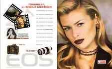 1996 magazine print ad  Canon EOS camera with Daniella