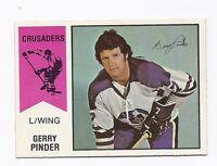 RARE 1974-75 OPC WHA # 9 CRUSADERS GERRY PINDER  CARD