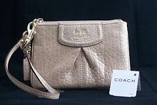 NWT COACH 47191 MADISON EMBOSSED METALLIC SMALL WRISTLET