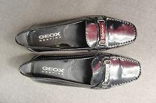 GEOX Respira - Mocassins plats surpiqués - cuir vernis noir T 36 - très bon état