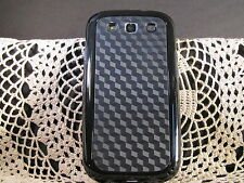 FOR SAMSUNG GALAXY S3 SOFT TPU BUMPER CASE MAXIMUM PROTECTION BLACK