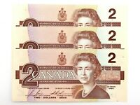 1986 Canada 2 Dollars EGR Uncirculated Canadian Bonin Thiessen Banknote M954