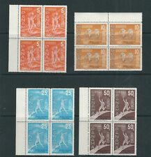 PANAMA 1960 ROME OLYMPICS airmail set (C234-237) VF MNH marginal blocks of 4