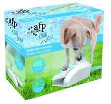 Todo Para Patas AFP Perro Cachorro Chill Out Jardín Fuente de agua para el uso con manguera