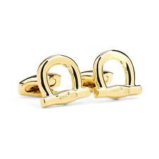 Men's accessory Made in Italy Salvatore Ferragamo Cufflinks Gancini Gold color