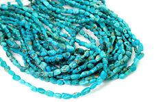 Genuine Turquoise Smooth Rough Nugget Chip Gemstone Beads Assorted Size - PGS251