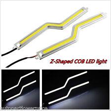12V High Power 2pcs Z-shaped COB Chip LED Light DRL Fog Running Light Waterproof