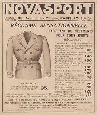 Z8478 NOVASPORT vetements pour tous sports - Pubblicità d'epoca - 1935 Old ad