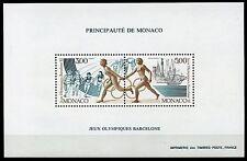MONACO BARCELONA SUMMER OLYM GAMES PERFORATE SOUVENIR SHEET SCOTT#1759 MINT NH