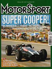 Motor Sport Feb 2003 - Cooper, Damon Hill 1997 Hungarian GP,  Climax Flat 16