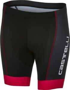 Castelli Future Kid Racer Kids Cycling Shorts Size 10 Year Old Black/Red