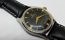 Hermoso Raro 1958 Omega Seamaster Dial Negro Reloj Automático Hombre