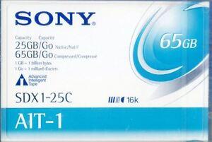 Sony SDX1 25C AIT 1 65Gb Data Cartridge New & Sealed