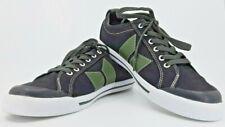 Macbeth Eliot Mens US7 Black Military Green Canvas Lace Up Sneakers Vegan euc