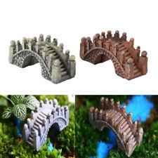 2x Newest Bridge Miniature Fairy Garden Terrarium Doll House Figurine Home Decor