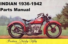 New listing Indian 1936-1942 Motorcycle Parts Manual Set 180pgs for 1937 1938 1939 1940 1941