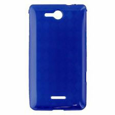 For Verizon LG Lucid 4G TPU CANDY Flexi Gel Skin Case Phone Cover Blue Plaid