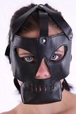 Hannibal cuero cabeza Harness máscara/Cannibal Leather GIMP Mask