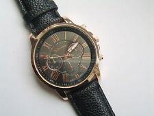 Geneva Stainless Steel Case Unisex Wristwatches