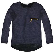 Girls Lightweight Plain Knitted Jumper Kids Long Sleeved Top Ages 2-10 Yrs